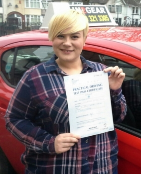 Abbey Sherratt passed with Garry Arrowsmith on 3318 Well done