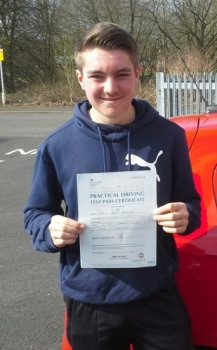 Callum Robertson passed 9418 with Garry Arrowsmith Well done<br />