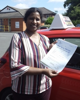 Pari Manoharan passed on 24/7/19 with Garry Arrowsmith! Well done!
