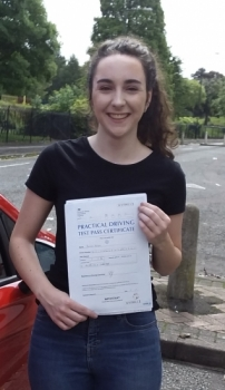 Roisin Nolan passed on 2/8/19 with Garry Arrowsmith! Well done!