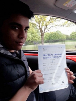 Gulam Chaudrey passed on 10518 with Peter Cartwright Well done