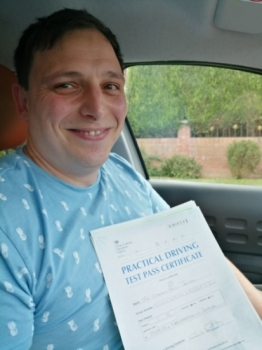 Steven Jones passed on 29/8/19 with Peter Cartwright! Well done!
