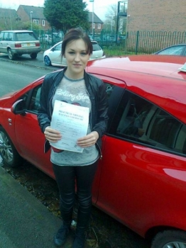 Abbi passed on 251115 with Phil Hudson Well done