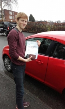 Aidan passed on 9316 with Phil Hudson Well done
