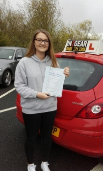 Becky passed on 29416 with Phil Hudson Well done
