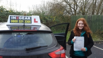 Charlotte passed on 71113 She passed with only 4 minor faults which demonstrated how well she drove on her test despite the weather conditions Well done