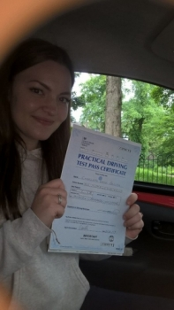 Charlotte passed on 126 with Peter Cartwright Well done