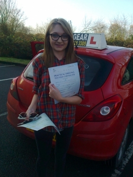 Clare passed with Phil Hudson Well done