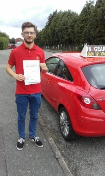 Conor passed with Phil Hudson on 1716 Well done