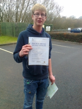 Dan passed with Phil Hudson Well done