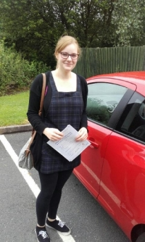 Evie passed on 13616 with Phil Hudson Well done