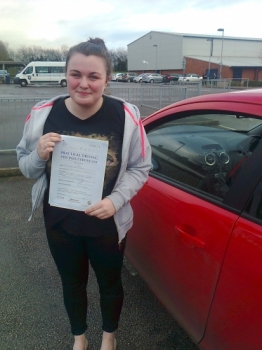 Gemma passed with Phil Hudson Well done