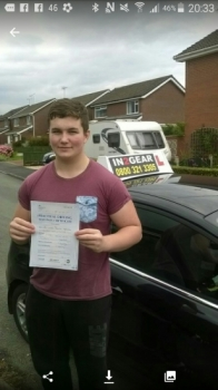 James passed on 24815 with Mitchell Gosling Well done