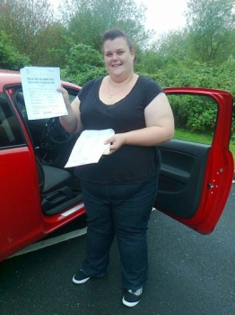 Kimberley passed on 4814 with Phil Hudson Well done
