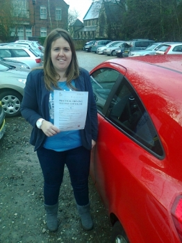 Louise passed with Phil Hudson Well done