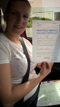 Ludmila Sledevska passed on 13817 with Peter Cartwright Well done
