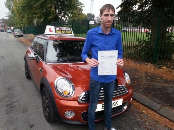 Nathan passed with Martin Garfoot on 20914 Well done <br />