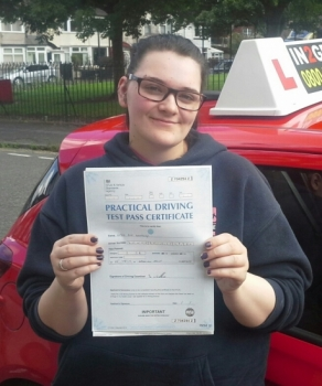 Sophie Donnelly passed on 5817 with Garry Arrowsmith Well done