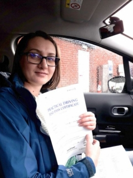 Joanna Łukasiewicz passed on 12/11/18 with Peter Cartwright! Well done!