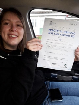 Sarah passed on 11/3/19 with Peter Cartwright! Well done!