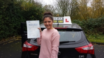 Rebecca passed on 61113 Well Done <br />
